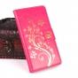 Фирменный чехол-книжка с рисунком на тему канделябры на Oukitel K10000 розовый..