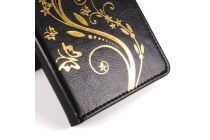 Фирменный чехол-книжка с рисунком на тему канделябры на Oukitel K10000 черный