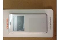 Чехол-книжка из кожи с квадратным окном для входящих вызовов  для Oukitel K4000 Белый