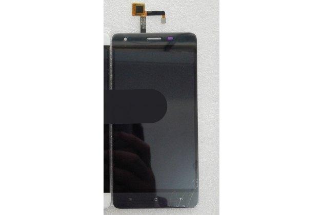 Фирменный LCD-ЖК-сенсорный дисплей-экран-стекло с тачскрином на телефон OUKITEL K6000 Pro черный + гарантия