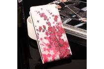 Фирменный вертикальный откидной чехол-флип для  Oukitel K7000 тематика Цветок вишни