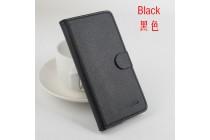 Фирменный чехол-книжка из качественной импортной кожи с подставкой застёжкой и визитницей черный