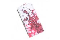 Фирменный вертикальный откидной чехол-флип для  Oukitel С3 тематика Цветок вишни