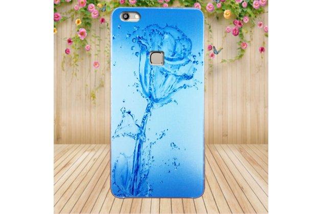 Фирменная роскошная задняя панель-чехол-накладка  из мягкого силикона с безумно красивым расписным 3D рисунком на OUKITEL U15S Водяная роза