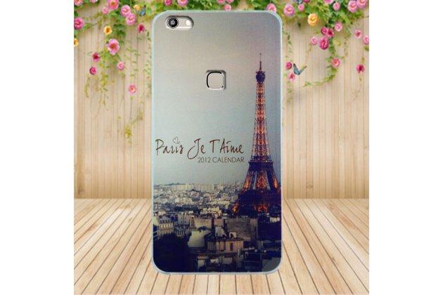 Фирменная роскошная задняя панель-чехол-накладка  из мягкого силикона с безумно красивым расписным 3D рисунком Париж на OUKITEL U15S