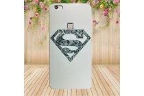 Фирменная роскошная задняя панель-чехол-накладка  из мягкого силикона с безумно красивым расписным 3D рисунком Superman на OUKITEL U15S
