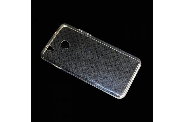 Фирменная из качественного силикона задняя панель-чехол-накладка для Oukitel U7 Plus прозрачная