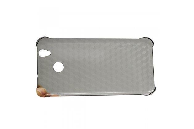 Фирменная задняя панель-крышка-накладка из тончайшего и прочного пластика для Oukitel U7 Plus черная