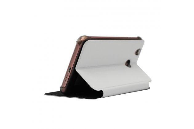 Фирменный чехол-футляр-книжка для Oukitel U7 Plus белый кожаный
