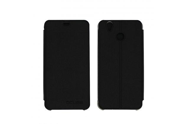 Фирменный чехол-футляр-книжка для Oukitel U7 Plus черный