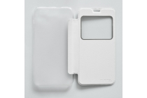 Чехол-книжка из кожи с квадратным окном для входящих вызовов  для OUKITEL U7 Pro Белый