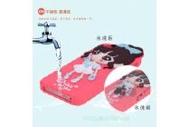 Фирменная роскошная задняя панель-чехол-накладка из мягкого силикона с объемным  3D изображением  на Oukitel U8 розовый