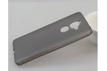 Фирменная ультра-тонкая полимерная из мягкого качественного силикона задняя панель-чехол-накладка для Philips X586 серая