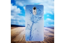 Фирменная необычная силиконовая задняя панель-чехол-накладка для Philips X586 тематика Цветок