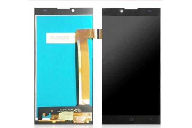 Фирменный LCD-ЖК-сенсорный дисплей-экран-стекло с тачскрином на телефон Prestigio Grace Q5 5.0 черный + гарантия