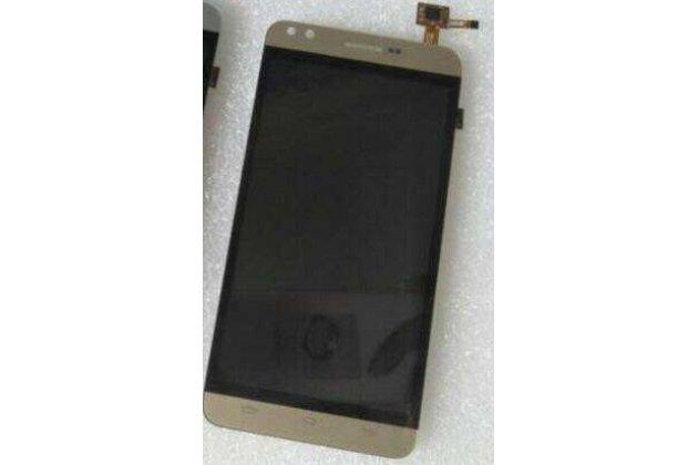 Фирменный LCD-ЖК-сенсорный дисплей-экран-стекло с тачскрином на телефон Prestigio Muze C3 5.0 (PSP 3504 DUO) Золотой + гарантия