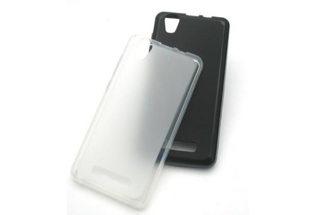 Фирменная ультра-тонкая полимерная из мягкого качественного силикона задняя панель-чехол-накладка для Prestigio Wize N3 5.0 (PSP3507 DUO) белая