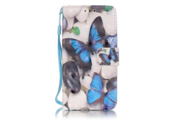 """Фирменный уникальный необычный чехол-подставка для Samsung Galaxy A3 (2017) SM-A320F 4.7""""  тематика Бабочки"""