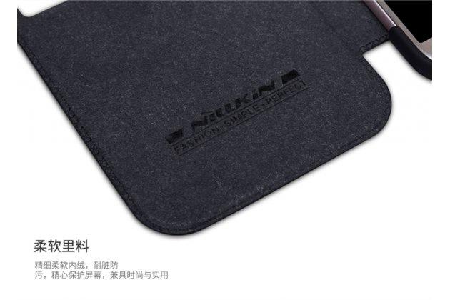 Фирменный оригинальный чехол-кейс из импортной кожи Quick Circle для Samsung Galaxy A3 (2017) SM-A320F 4.7с умным окном черный