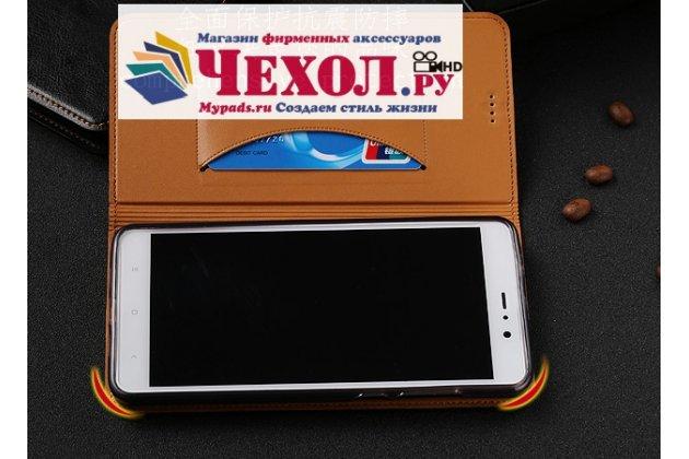 Фирменный чехол-книжка из качественной импортной кожи с мульти-подставкой и визитницей для Samsung Galaxy A5 2016/ A5+ / A510 / A5100 5.2 черный