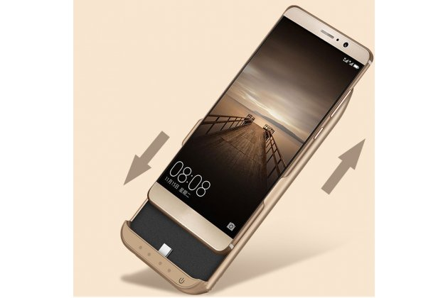 Чехол-бампер со встроенной усиленной мощной батарей-аккумулятором большой повышенной расширенной ёмкости 6800 mAh для Samsung Galaxy A5 2016/ A5+ / A510 / A5100 5.2 золотой + гарантия
