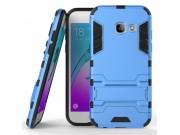 Противоударный усиленный ударопрочный фирменный чехол-бампер-пенал для Samsung Galaxy A5 SM-A520F (2017) синий..