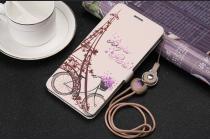 Фирменный уникальный необычный чехол-подставка для Samsung Galaxy A5 SM-A520F (2017) тематика Париж