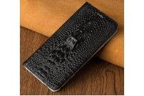 Фирменный роскошный эксклюзивный чехол с объёмным 3D изображением кожи крокодила черный для Samsung Galaxy A5 SM-A520F (2017) . Только в нашем магазине. Количество ограничено