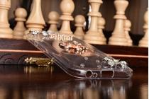 Фирменная роскошная элитная силиконовая задняя панель-накладка украшенная стразами кристалликами и декорированная элементами для Samsung Galaxy A5 SM-A520F (2017) стразами кристалликами