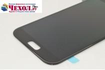 Фирменный LCD-ЖК-сенсорный дисплей-экран-стекло с тачскрином на телефон Samsung Galaxy A5 SM-A520F (2017) черный + гарантия