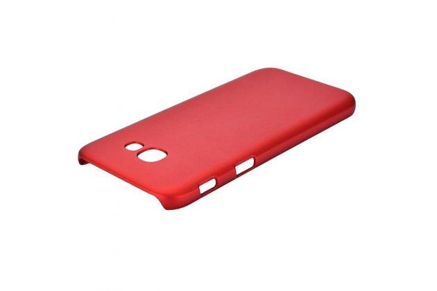 Фирменная задняя панель-крышка-накладка из тончайшего и прочного пластика для Samsung Galaxy A5 SM-A520F (2017) красная