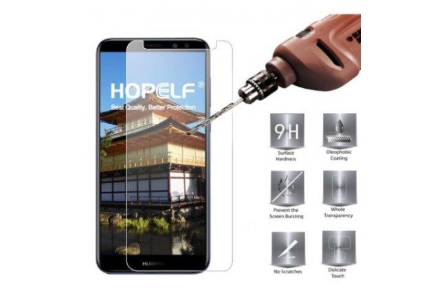 Фирменное защитное закалённое противоударное стекло для телефона Huawei Nova 2i (RNE-AL00) / Huawei Mate 10 Lite из качественного японского материала премиум-класса с олеофобным покрытием