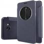 Фирменный оригинальный чехол-книжка для Samsung Galaxy A9 Pro SM-A910F/DS 6.0 черный с окошком для входящих вы..