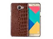 Фирменная элегантная экзотическая задняя панель-крышка из натуральной кожи крокодила для Samsung Galaxy A9 Pro..