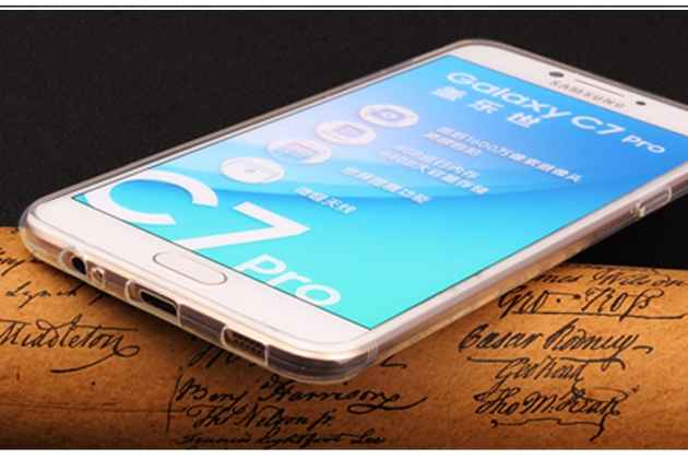 Фирменная ультра-тонкая полимерная из мягкого качественного силикона задняя панель-чехол-накладка для Samsung Galaxy C5 Pro / Galaxy C5 2017 (SM-C5010) прозрачная