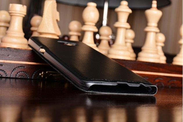 Фирменный оригинальный чехол-книжка для Samsung Galaxy C5 Pro / Galaxy C5 2017 (SM-C5010) черный  с окошком для входящих вызовов водоотталкивающий