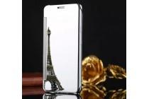 Чехол-книжка с дизайном Clear View Cover полупрозрачный с зеркальной поверхностью для Samsung Galaxy C7 Pro SM-C7010 серебристый
