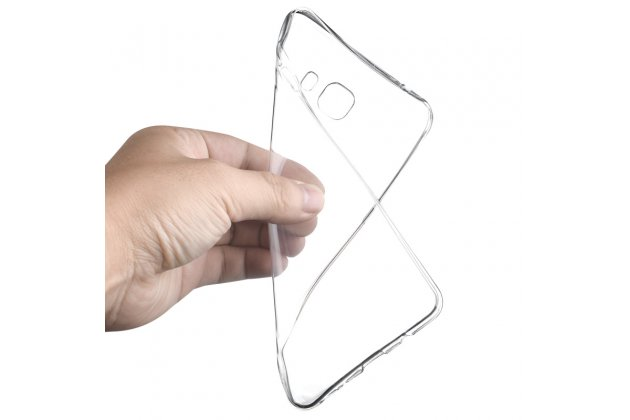 Фирменная ультра-тонкая полимерная из мягкого качественного силикона задняя панель-чехол-накладка для Samsung Galaxy C9 Pro (SM-C9000) прозрачная