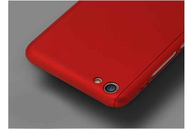 Фирменный уникальный чехол-бампер-панель с полной защитой дисплея и телефона по всем краям и углам для Samsung Galaxy J1 2016 SM-J120F/DS красный