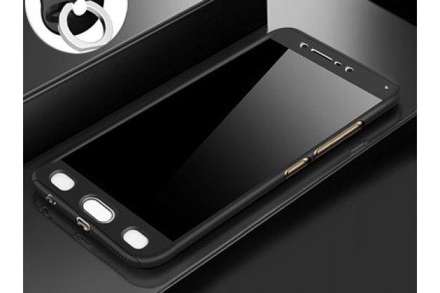Фирменный уникальный чехол-бампер-панель с полной защитой дисплея и телефона по всем краям и углам для Samsung Galaxy J1 2016 SM-J120F/DS черный