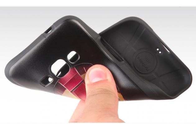 """Фирменная уникальная задняя панель-крышка-накладка из тончайшего силикона для Samsung Galaxy J1 2016 SM-J120F/DS  с объёмным 3D рисунком """"Тигр"""""""