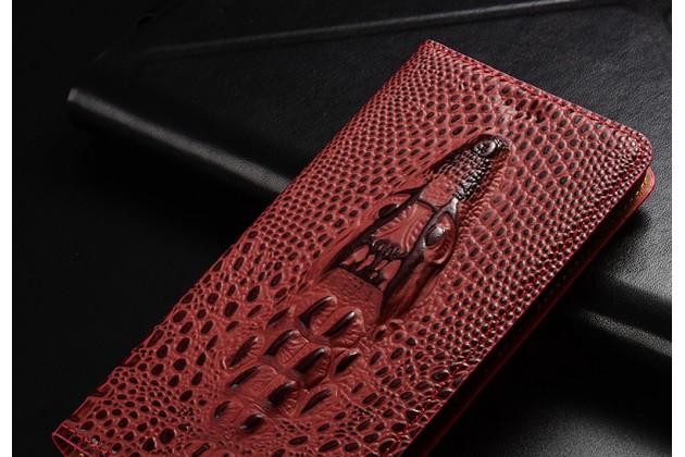 Фирменный роскошный эксклюзивный чехол с объёмным 3D изображением кожи крокодила бордовый для Samsung Galaxy J1 2016 SM-J120F/DS. Только в нашем магазине. Количество ограничено