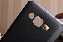Фирменный оригинальный чехол-книжка для Samsung Galaxy J2 Prime (2016) SM-G532F черный  с окошком для входящих вызовов водоотталкивающий