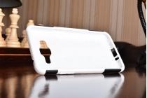 Противоударный усиленный ударопрочный фирменный чехол-бампер-пенал для Samsung Galaxy J2 Prime (2016) SM-G532F белый