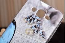 Фирменная уникальная задняя панель-крышка-накладка из тончайшего силикона для Samsung Galaxy J2 Prime (2016) SM-G532F с объёмным 3D рисунком тематика Бабочка