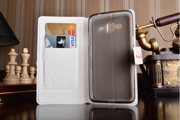 Фирменный уникальный необычный чехол-подставка для Samsung Galaxy J2 Prime (2016)/Grand Prime Plus SM-G532F  тематика Яркий Цветок