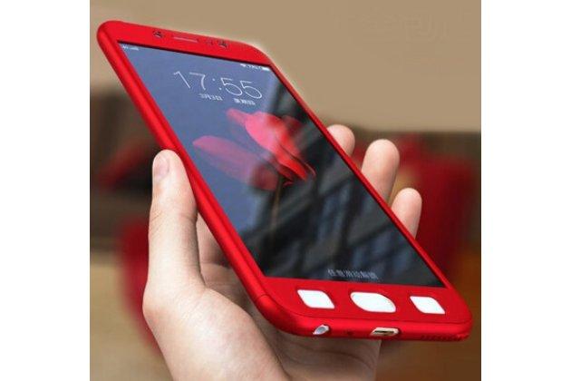 Фирменный чехол-бокс-корпус-панель в комплекте с задней и передней крышкой из тончайшего и прочного пластика для Samsung Galaxy J3 (2016) SM-J320F/DS/J320H/DS красная