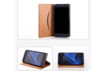 Фирменный премиальный элитный чехол-книжка из качественной импортной кожи с мульти-подставкой и визитницей для Samsung Galaxy J3 Prime SM-J330F/Samsung Galaxy J3 (2017) SM-J330F  синий