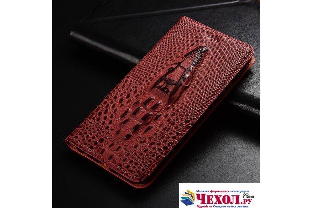 Фирменный роскошный эксклюзивный чехол с объёмным 3D изображением кожи крокодила цвет красное вино для Samsung Galaxy J3 Prime SM-J330F/Samsung Galaxy J3 (2017) SM-J330F . Только в нашем магазине. Количество ограничено