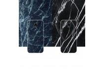 Фирменная из тончайшего прочного пластика задняя панель-крышка-накладка с рисунком под мрамор для Samsung Galaxy J3 Prime SM-J330F/Samsung Galaxy J3 (2017) SM-J330F  цвет малахит